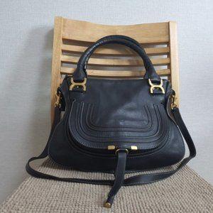 authentic CHLOE Marcie Black Leather ShouldER BAG